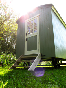 Shepherds hut, south devon a perfect escape for a couple